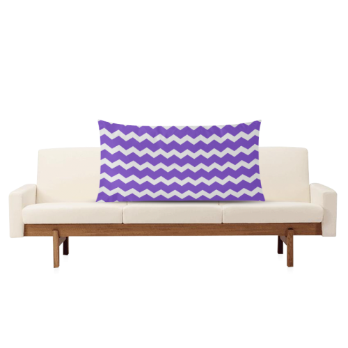 "Modern Trendy Pastell Grey Lilac Zig Zag Pattern Chevron Rectangle Pillow Case 20""x36""(Twin Sides)"
