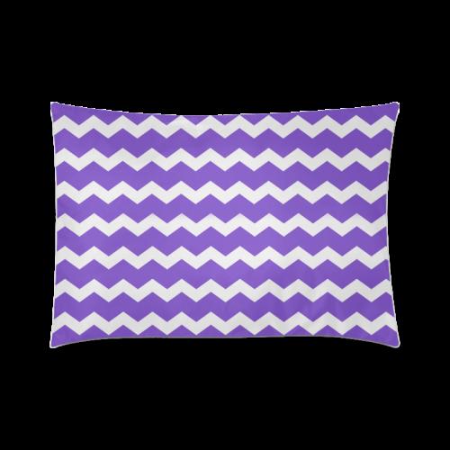 "Modern Trendy Pastell Grey Lilac Zig Zag Pattern Chevron Custom Zippered Pillow Case 20""x30""(Twin Sides)"