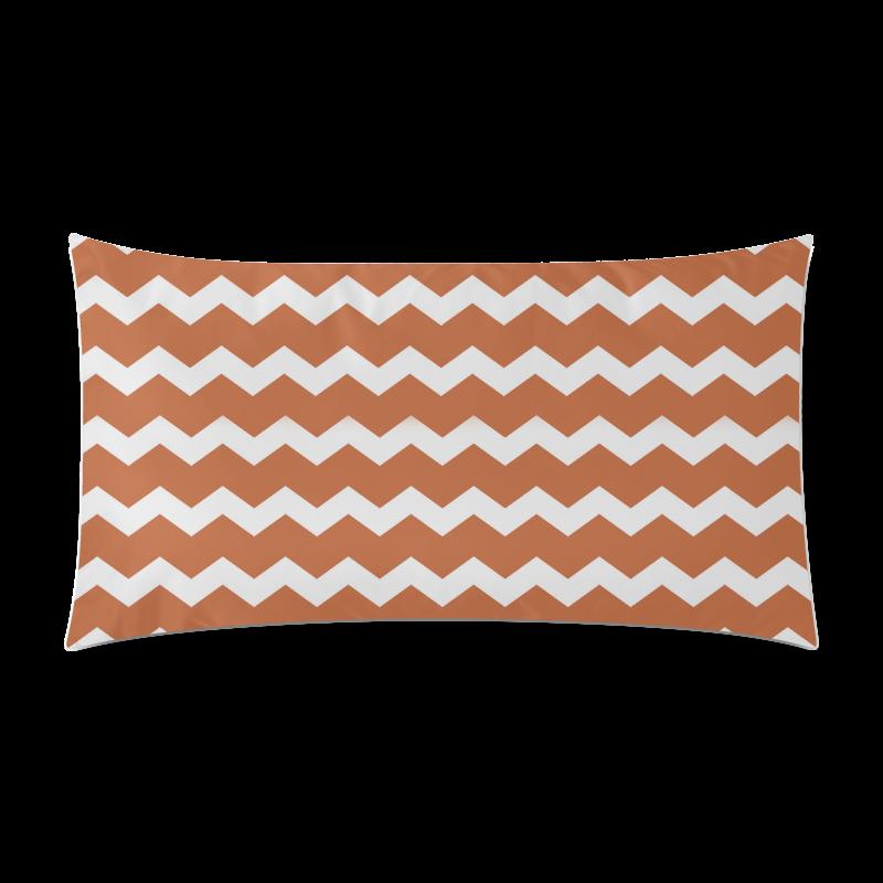 "Modern Trendy Pastell Grey Ocker Zig Zag Pattern Chevron Rectangle Pillow Case 20""x36""(Twin Sides)"
