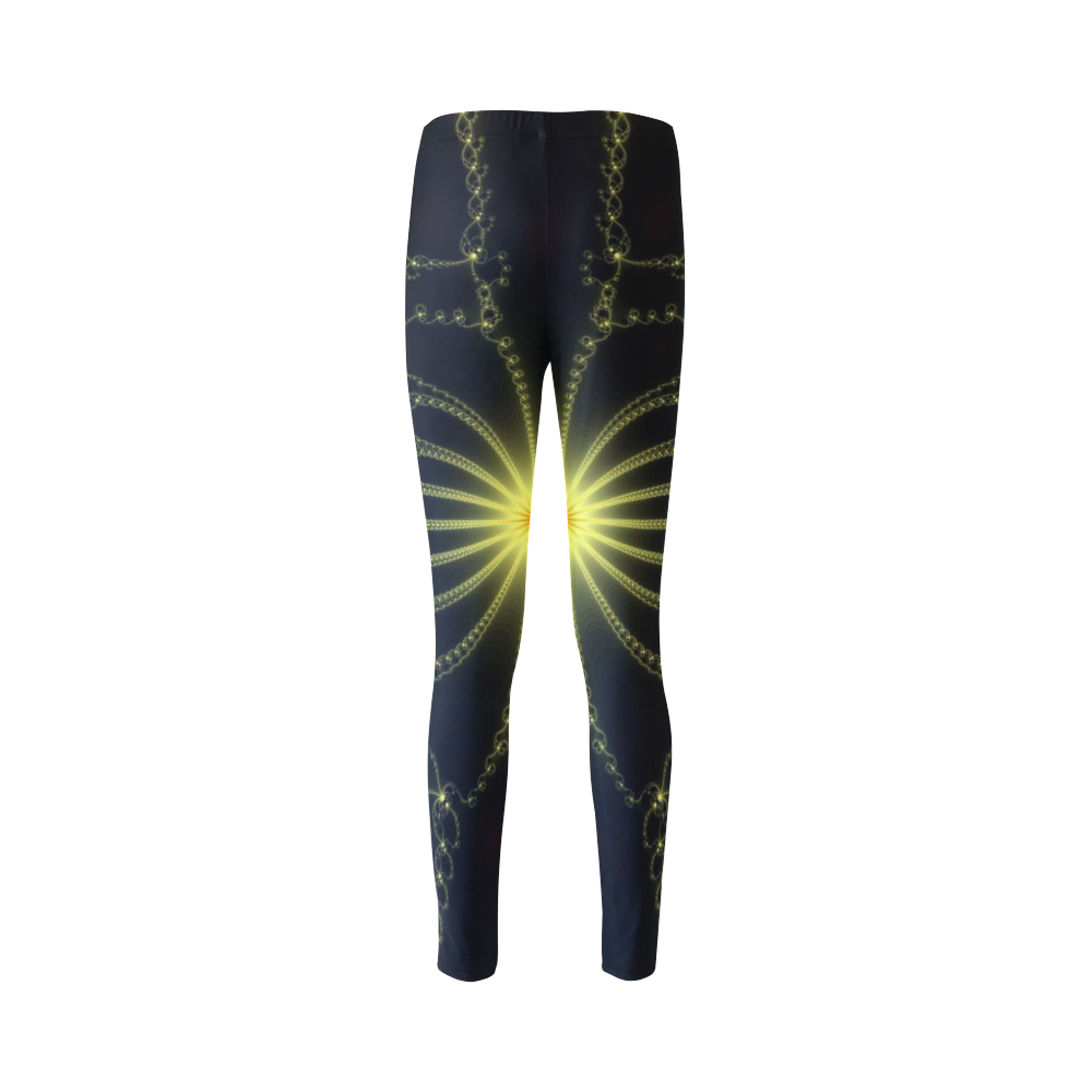 Yellow Flower Explosion Cassandra Women's Leggings (Model L01)