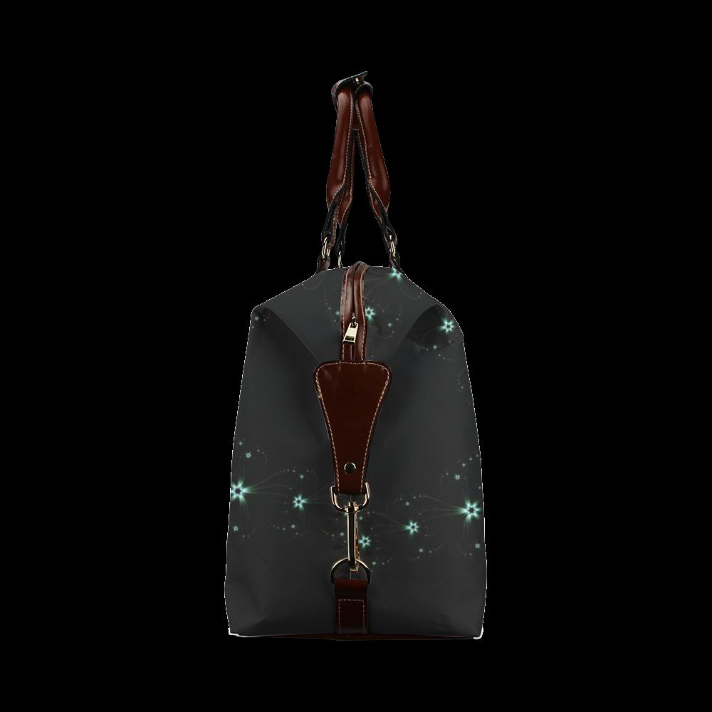 Teal Flower Burst Classic Travel Bag (Model 1643)