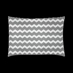 "Chic Elegant Modern Trendy Pastell Grey Zig Zag Pattern Chevron Custom Zippered Pillow Case 20""x30""(Twin Sides)"
