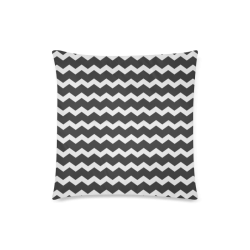 "Modern Trendy Pastel Grey Black Zig Zag Pattern Chevron Custom Zippered Pillow Case 18""x18""(Twin Sides)"