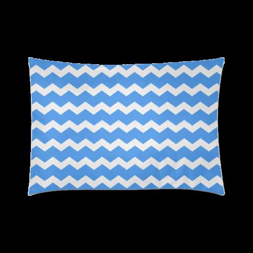 "Modern Trendy Pastell Grey Blue Zig Zag Pattern Chevron Custom Zippered Pillow Case 20""x30""(Twin Sides)"