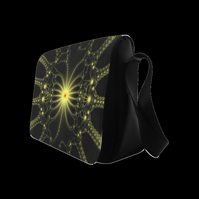 Yellow Flower Explosion Messenger Bag (Model 1628)