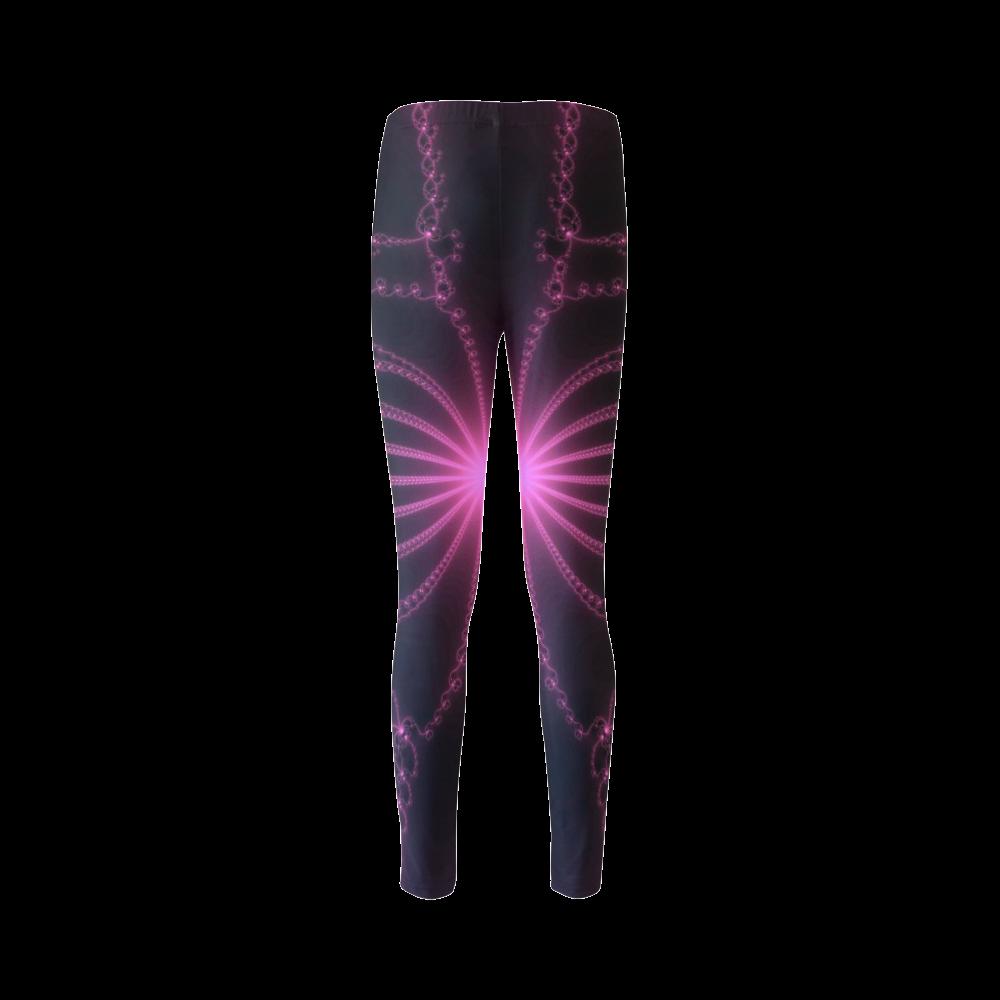 Pink Flower Explosion Cassandra Women's Leggings (Model L01)