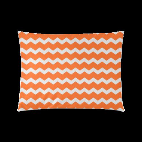 "Modern Trendy Pastell Grey Orange Zig Zag Pattern Chevron Custom Zippered Pillow Case 20""x26""(Twin Sides)"