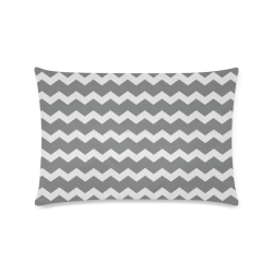 "Elegant Chic Modern Trendy Pastell Grey Zig Zag Pattern Chevron Custom Zippered Pillow Case 16""x24""(Twin Sides)"