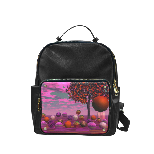 Bittersweet Opinion, Abstract Raspberry Maple Tree Campus backpack/Large (Model 1650)