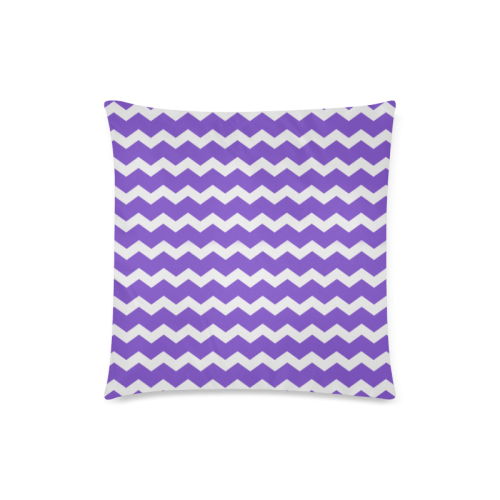 "Modern Trendy Pastell Grey lilac Zig Zag Pattern Chevron Custom Zippered Pillow Case 18""x18""(Twin Sides)"