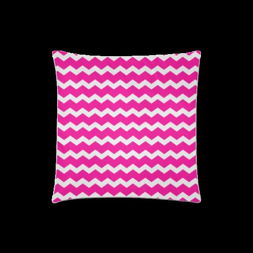 "Modern Trendy Pastell Grey Pink Zig Zag Pattern Chevron Custom Zippered Pillow Case 18""x18""(Twin Sides)"