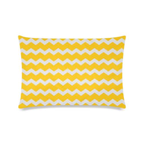"Modern Trendy Pastell Grey Sun Yellow Summer Zig Zag Pattern Chevron Custom Zippered Pillow Case 16""x24""(Twin Sides)"