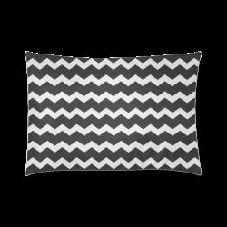 "Elegant Chic Modern Trendy Pastell Grey Black Zig Zag Pattern Chevron Custom Zippered Pillow Case 20""x30""(Twin Sides)"