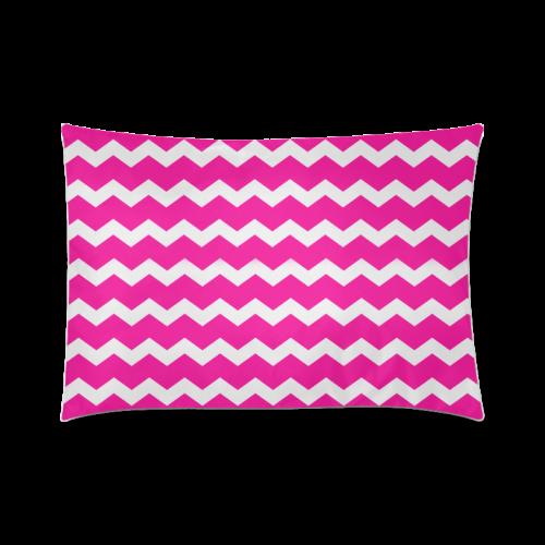 "Modern Trendy Pastell Grey Pink Zig Zag Pattern Chevron Custom Zippered Pillow Case 20""x30""(Twin Sides)"