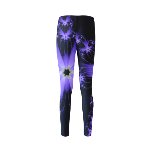 Purple Flower Burst Cassandra Women's Leggings (Model L01)