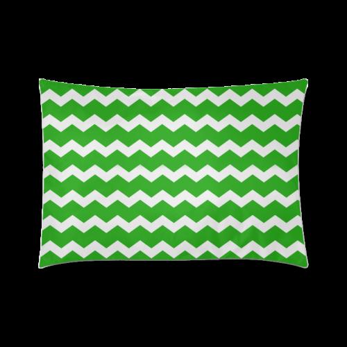 "Modern Trendy Pastell Grey Green Zig Zag Pattern Chevron Custom Zippered Pillow Case 20""x30""(Twin Sides)"