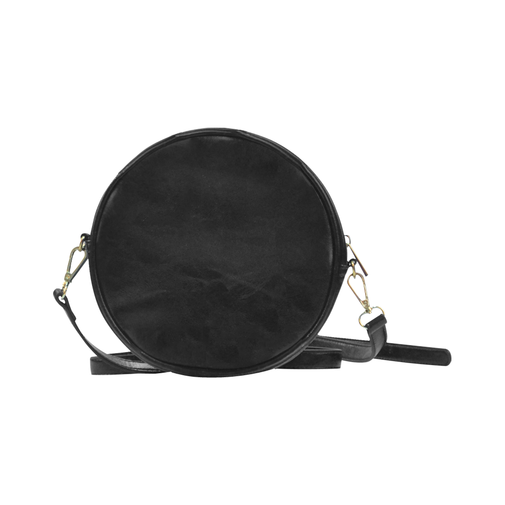 Bittersweet Opinion, Abstract Raspberry Maple Tree Round Sling Bag (Model 1647)