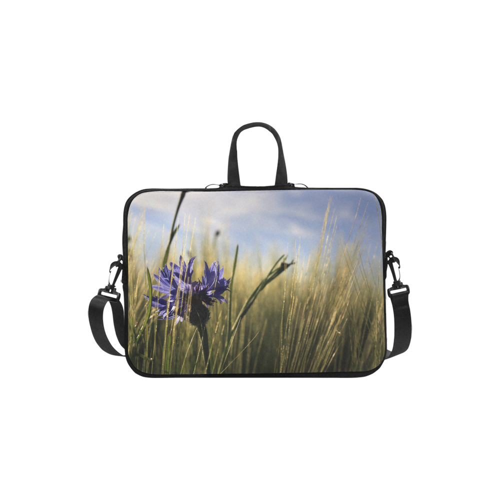Cornflower Bluebottle Wheat Field Summer Laptop Handbags 11""