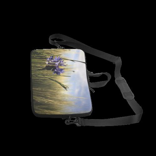 """Cornflower Bluebottle Wheat Field Summer Laptop Handbags 15"""""""