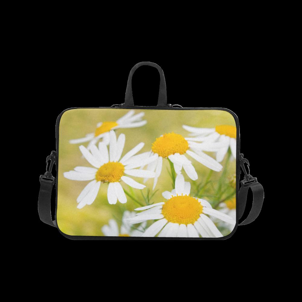 "Camomile Chamomile Camille Flower Summer Green Laptop Handbags 17"""