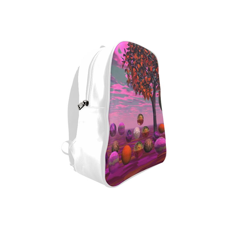 Bittersweet Opinion, Abstract Raspberry Maple Tree School Backpack/Large (Model 1601)