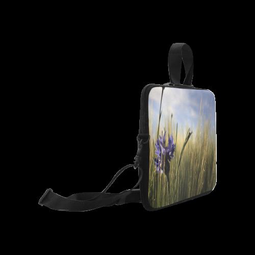 """Cornflower Bluebottle Wheat Field Summer Laptop Handbags 17"""""""