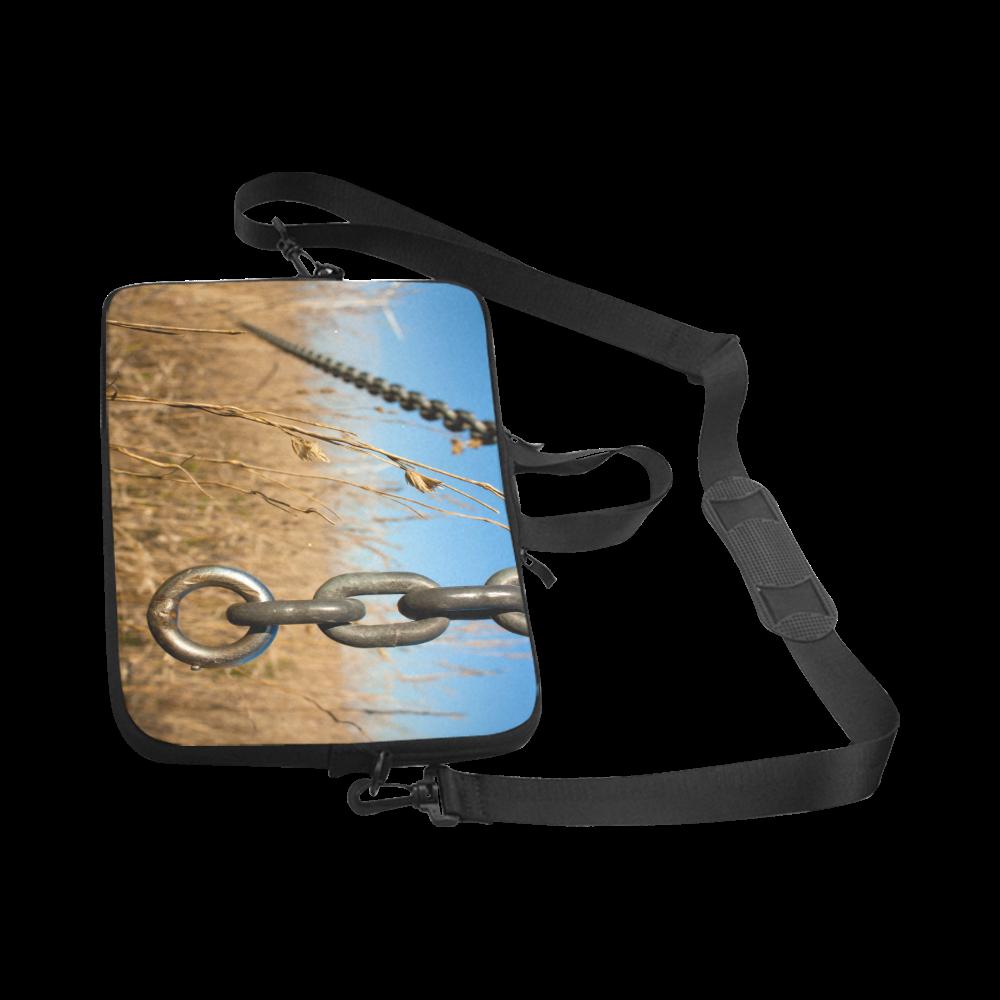 "Chain Warp Blue Sky Summer Laptop Handbags 17"""