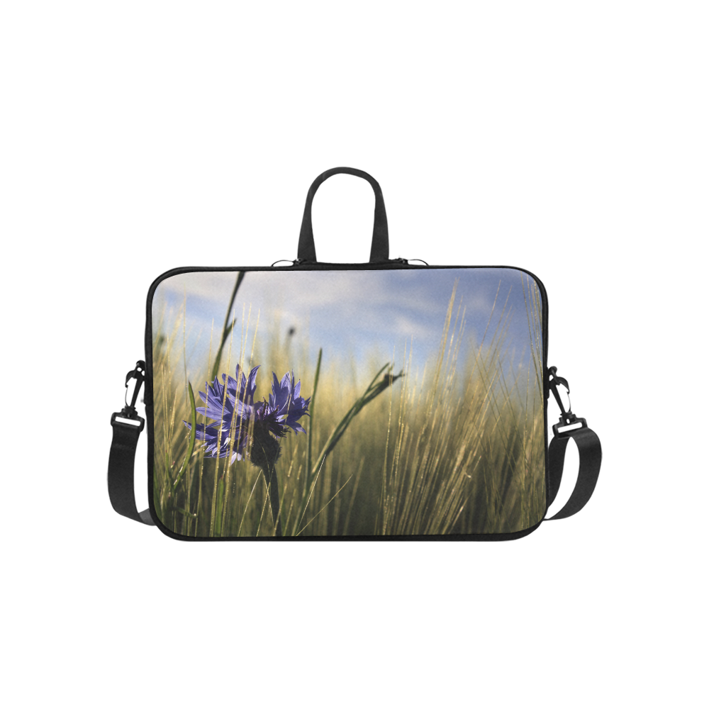 Cornflower Bluebottle Wheat Field Summer Laptop Handbags 14""