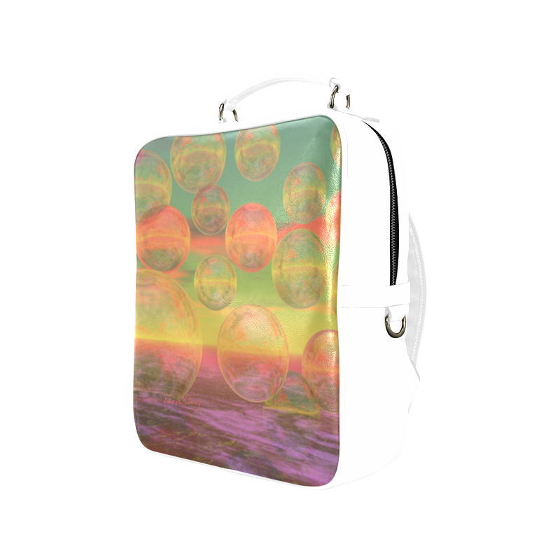 Autumn Ruminations, Abstract Gold Rose Glory Square Backpack (Model 1618)