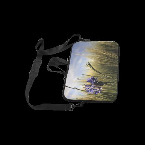 """Cornflower Bluebottle Wheat Field Summer Laptop Handbags 10"""""""