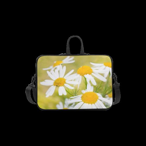 "Camomile Chamomile Camille Flower Summer Green Laptop Handbags 13"""