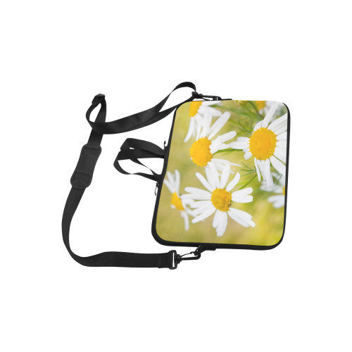 "Camomile Chamomile Camille Flower Summer Green Laptop Handbags 10"""