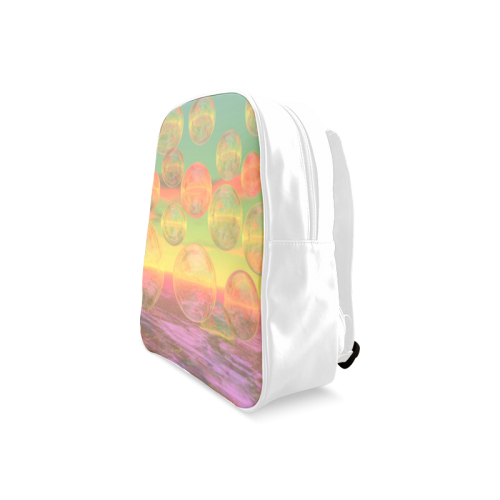 Autumn Ruminations, Abstract Gold Rose Glory School Backpack/Large (Model 1601)