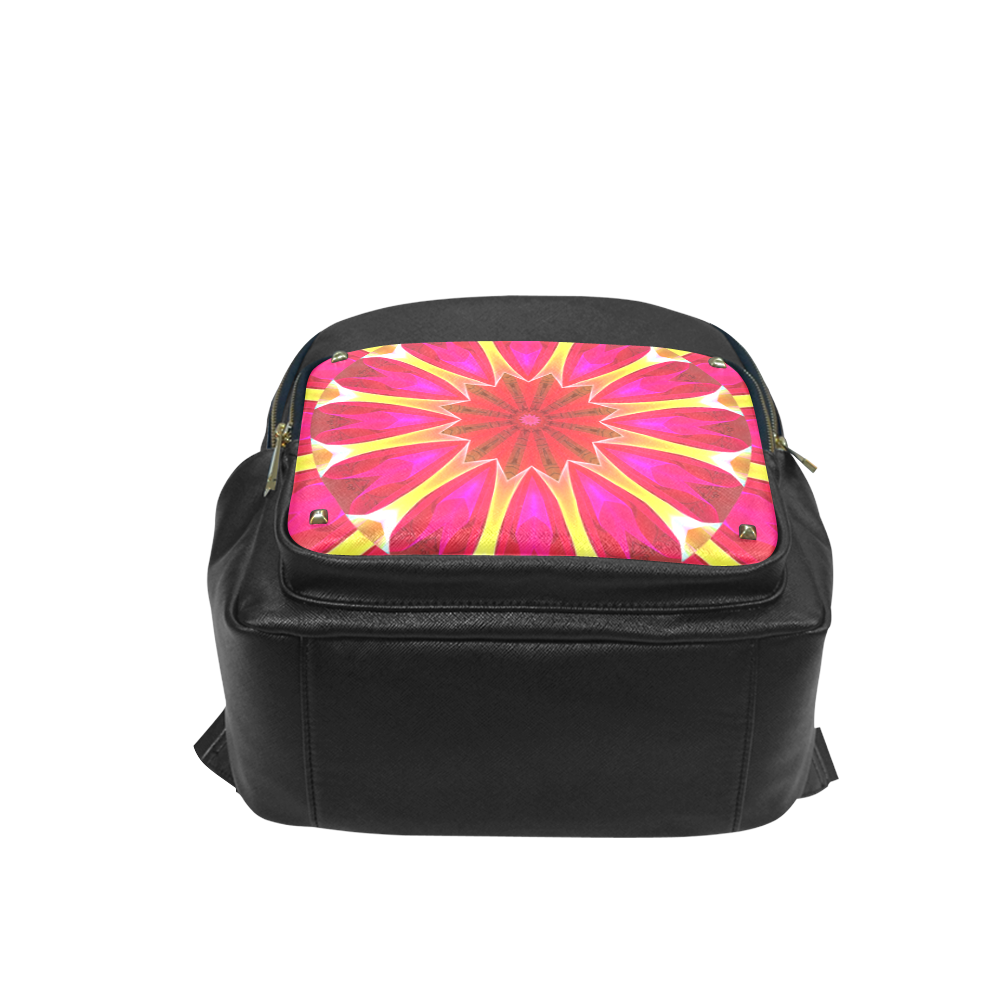 Cherry Daffodil Abstract Modern Pink Flowers Zen Campus backpack/Large (Model 1650)