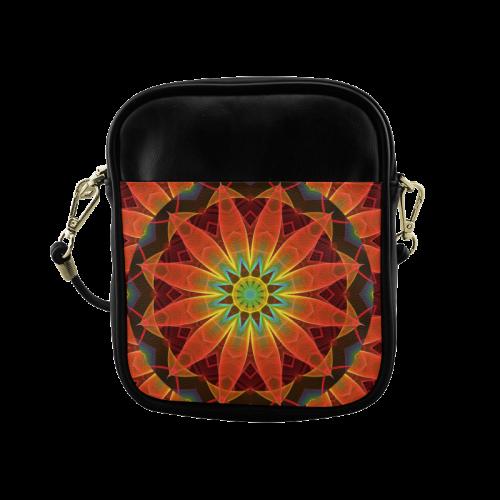 Radiance and Light, Orange Brown Awakening Sling Bag (Model 1627)