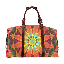 Radiance and Light, Orange Brown Awakening Classic Travel Bag (Model 1643)