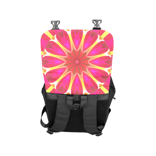 Cherry Daffodil Abstract Modern Pink Flowers Zen Casual Shoulders Backpack (Model 1623)