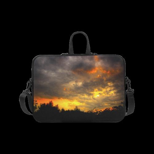 "Burning Sky Clouts Dramatic Weather Laptop Handbags 17"""