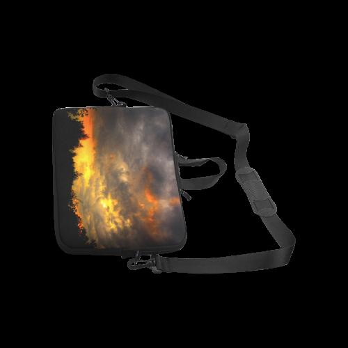 "Burning Sky Clouts Dramatic Weather Laptop Handbags 14"""