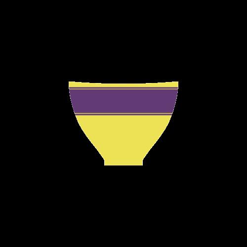 Yellow Lilac Ribbon Custom Bikini Swimsuit