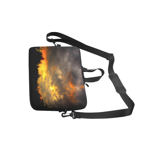Burning Sky Clouts Dramatic Weather Laptop Handbags 15""