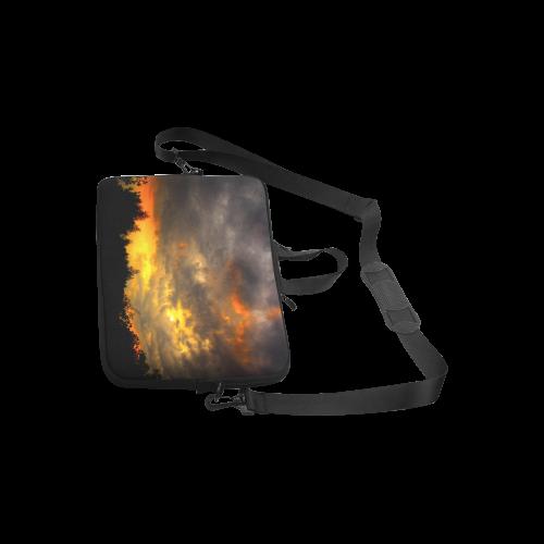 "Burning Sky Clouts Dramatic Weather Laptop Handbags 10"""
