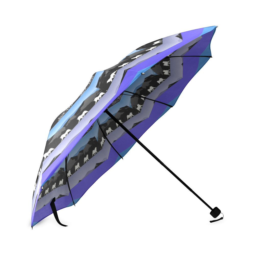 Samoyed Rocking the Rockies #2 Foldable Umbrella (Model U01)