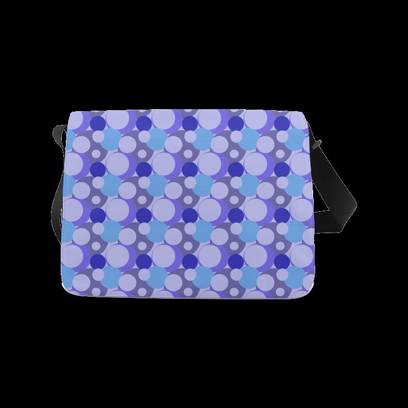 Blue Bubble Pop Messenger Bag (Model 1628)