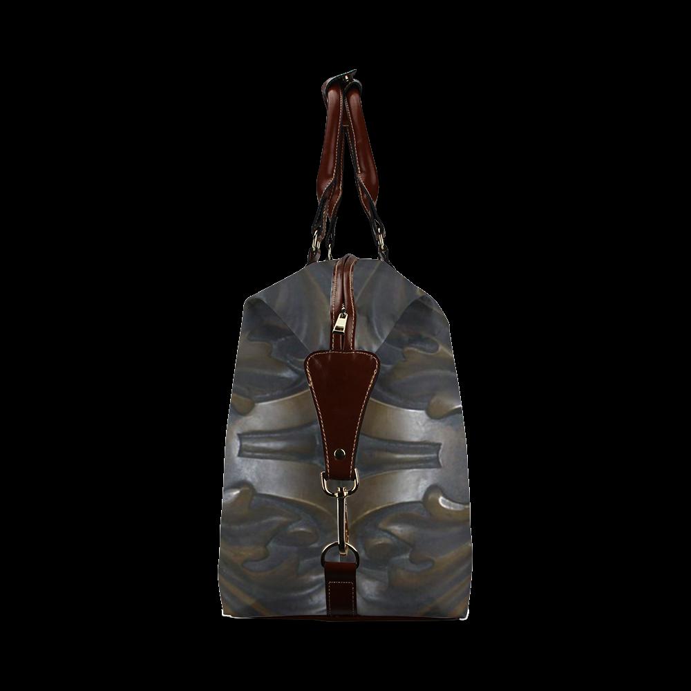 Dark Flower Tile Classic Travel Bag (Model 1643)