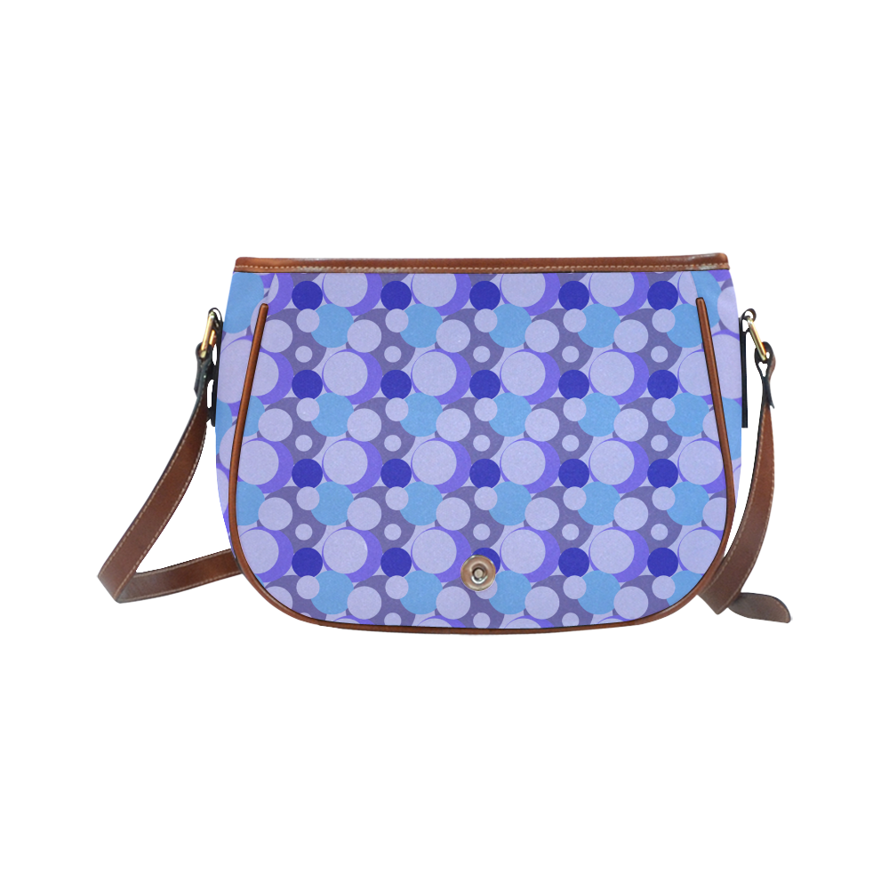 Blue Bubble Pop Saddle Bag/Large (Model 1649)