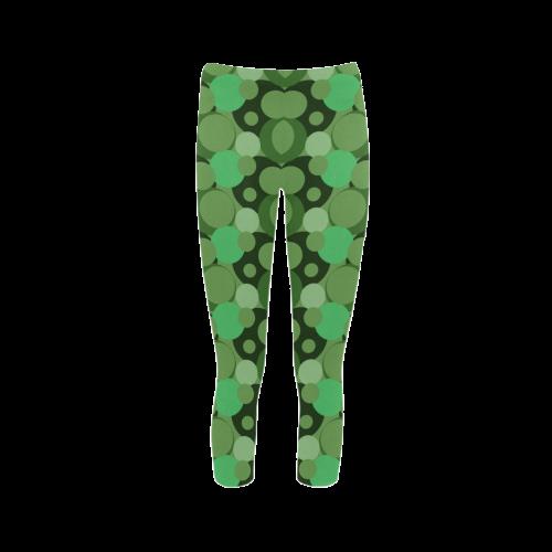 Green Bubble Pop Capri Legging (Model L02)