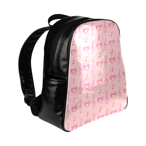Pink Musical Multi-Pockets Backpack (Model 1636)