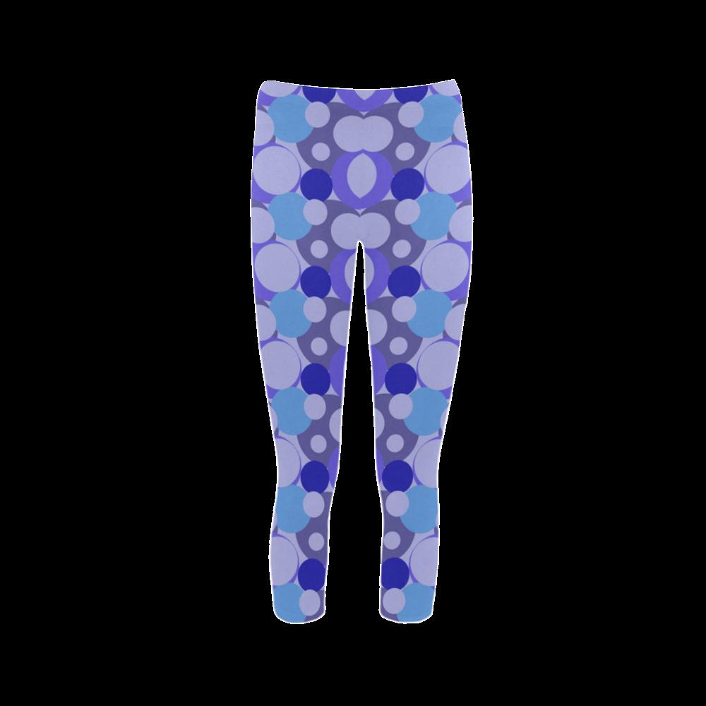 Blue Bubble Pop Capri Legging (Model L02)