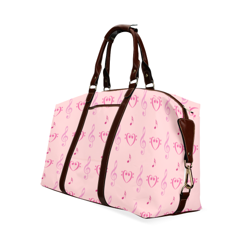 Pink Musical Classic Travel Bag (Model 1643)